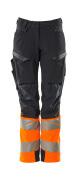 19178-511-01014 Bukser med knelommer - mørk marine/hi-vis oransje
