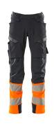 19179-511-01014 Bukser med knelommer - mørk marine/hi-vis oransje