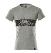 19182-965-0814 T-skjorte - grå melert/hi-vis oransje