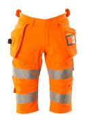 19349-711-14 Shorts, lange med hengelommer - hi-vis oransje