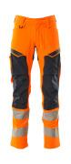 19479-711-14010 Bukser med knelommer - hi-vis oransje/mørk marine