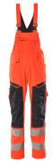 19569-236-14010 Overall med knelommer - hi-vis oransje/mørk marine