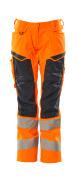 19578-236-14010 Bukser med knelommer - hi-vis oransje/mørk marine
