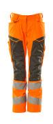 19578-236-1418 Bukser med knelommer - hi-vis oransje/mørk antrasitt