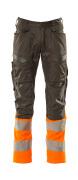 19679-236-01014 Bukser med knelommer - mørk marine/hi-vis oransje