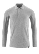 20483-961-08 Pikéskjorte, langermet - grå melert