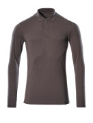 20483-961-18 Pikéskjorte, langermet - mørk antrasitt