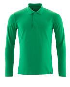 20483-961-333 Pikéskjorte, langermet - gressgrønn