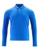 20483-961-91 Pikéskjorte, langermet - azurblå