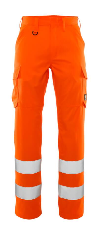20859-236-14 Bukser med lårlommer - hi-vis oransje