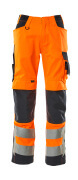 20879-236-14010 Bukser med knelommer - hi-vis oransje/mørk marine