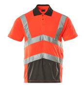 50117-949-A49 Pikéskjorte - hi-vis rød/mørk antrasitt