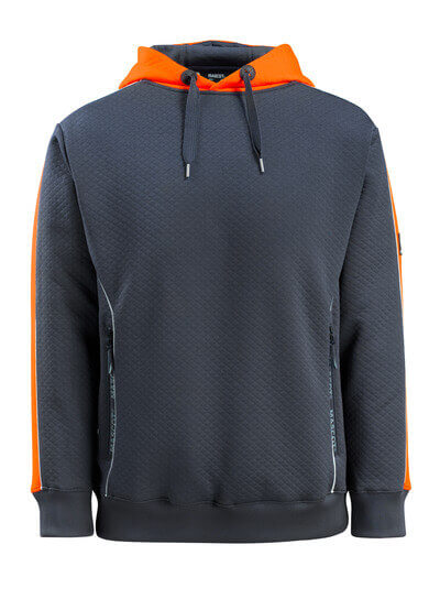 50124-932-01014 Hettegenser - mørk marine/hi-vis oransje