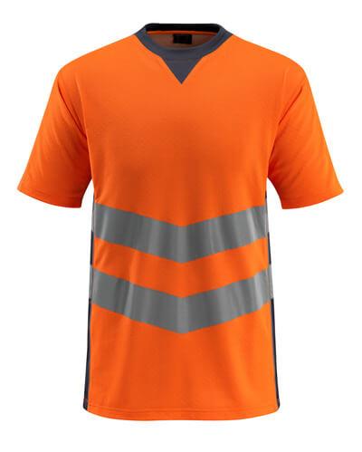 50127-933-14010 T-skjorte - hi-vis oransje/mørk marine