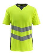 50127-933-17010 T-skjorte - hi-vis gul/mørk marine