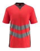50127-933-22218 T-skjorte - hi-vis rød/mørk antrasitt