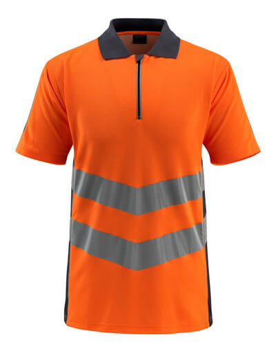 50130-933-14010 Pikéskjorte - hi-vis oransje/mørk marine