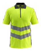 50130-933-1709 Pikéskjorte - hi-vis gul/svart