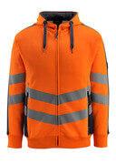 50138-932-14010 Hettegenser med glidelås - hi-vis oransje/mørk marine