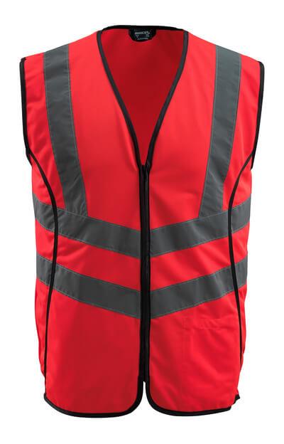 50145-982-222 Trafikkvest - hi-vis rød