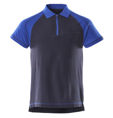 50302-260-111 Pikéskjorte med brystlomme - marine/kobolt