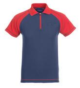 50302-260-12 Pikéskjorte med brystlomme - marine/rød