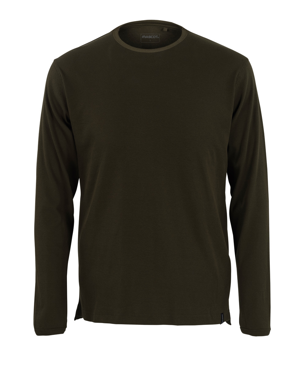 50402-865-19 T-skjorte, langermet - mørk oliven
