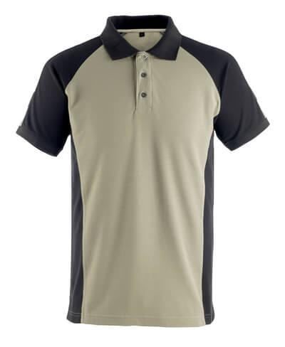 50502-260-5509 Pikéskjorte - lys kaki/svart