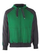 50509-811-0309 Hettegenser med glidelås - grønn/svart