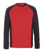 50568-959-0209 T-skjorte, langermet - rød/svart
