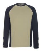 50568-959-5509 T-skjorte, langermet - lys kaki/svart