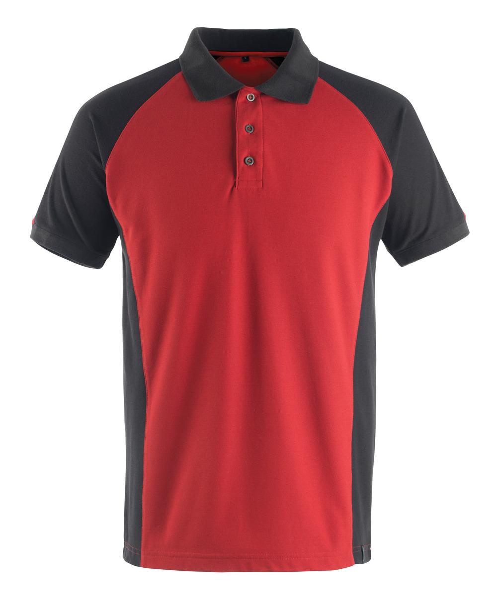 50569-961-0209 Pikéskjorte - rød/svart