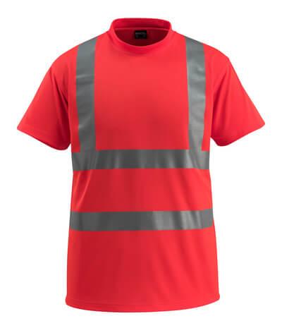 50592-976-222 T-skjorte - hi-vis rød