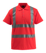 50593-976-222 Pikéskjorte - hi-vis rød
