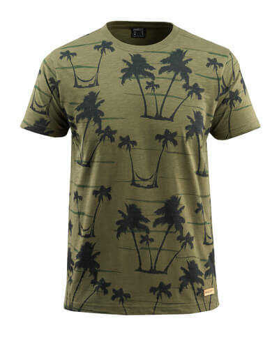 50596-983-33 T-skjorte - mosegrønn