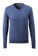 50635-989-41 Strikkegenser - blå melert