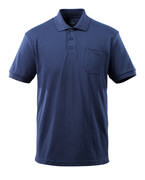 51586-968-01 Pikéskjorte med brystlomme - marine