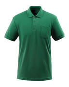 51586-968-03 Pikéskjorte med brystlomme - grønn