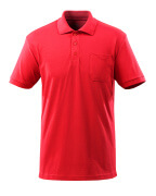 51586-968-202 Pikéskjorte med brystlomme - signalrød