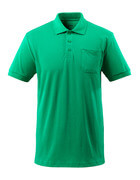 51586-968-333 Pikéskjorte med brystlomme - gressgrønn