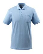 51586-968-71 Pikéskjorte med brystlomme - lys blå