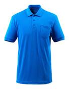 51586-968-91 Pikéskjorte med brystlomme - azurblå