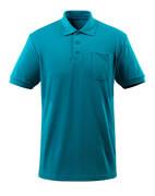 51586-968-93 Pikéskjorte med brystlomme - petroleum