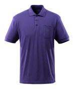 51586-968-95 Pikéskjorte med brystlomme - lilla