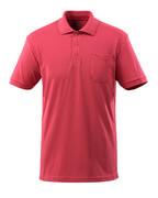 51586-968-96 Pikéskjorte med brystlomme - bringebærrød