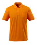 51586-968-98 Pikéskjorte med brystlomme - oransje