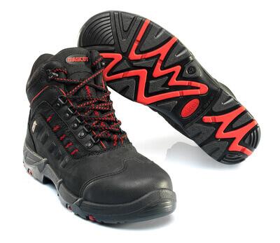 F0025-901-0902 Vernestøvler - svart/rød
