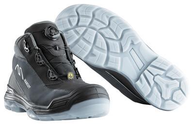 F0118-906-09888 Vernestøvler - svart/antrasitt