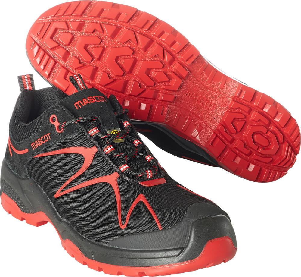 F0121-770-0902 Vernesko - svart/rød