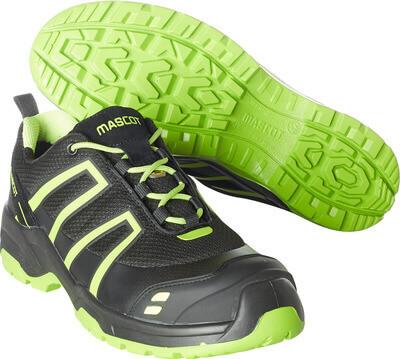 F0124-773-0917 Vernesko - svart/limegrønn